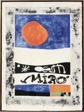 JOAN MIRO COLOR LITHOGRAPH 1953
