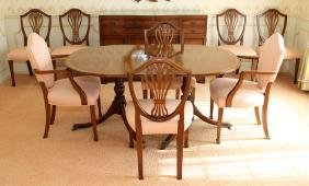 KITTINGER MAHOGANY BUFFET ALSO TABLE 8 CHAIRS