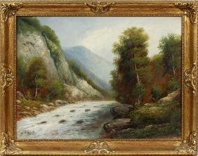 WILHELM OLBRICH OIL ON CANVAS