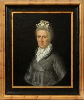 ANTIQUE VICTORIAN PORTRAIT OF A WOMAN