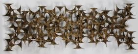 COPPER AND METAL WALL SCULPTURE