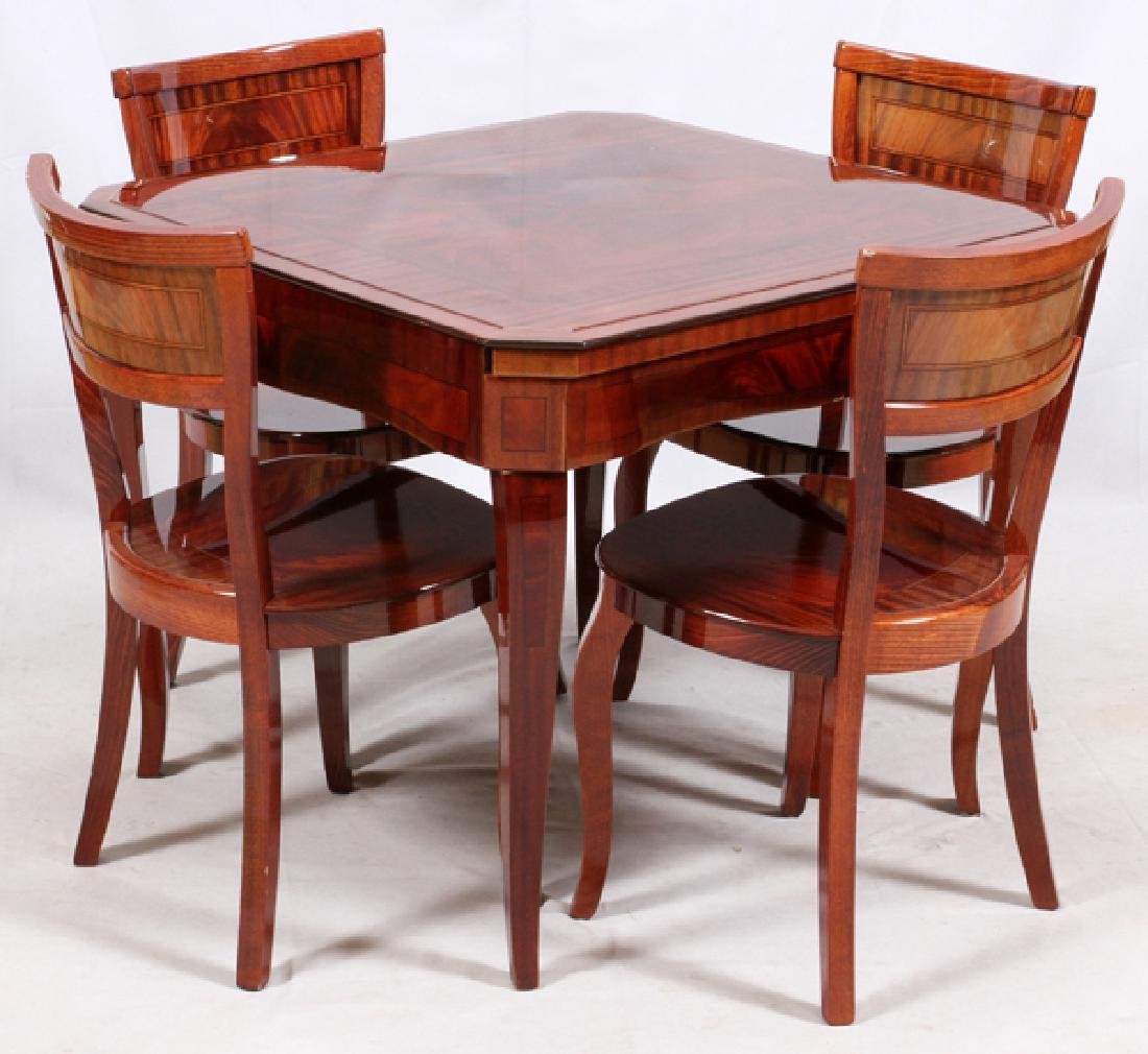 GAME TABLE W/ 4 CHAIRS