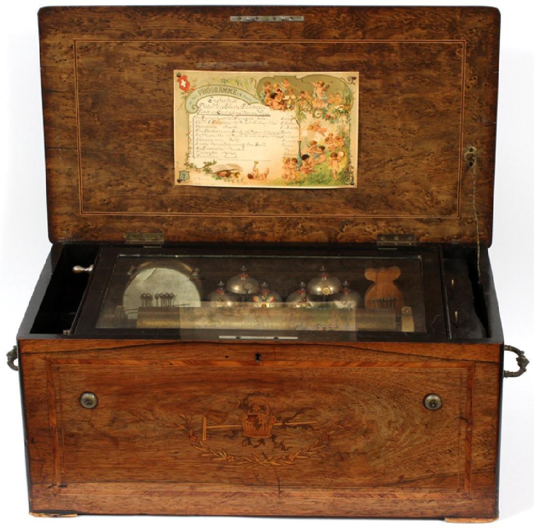 SWISS MARQUETRY INLAY MUSIC BOX C1840