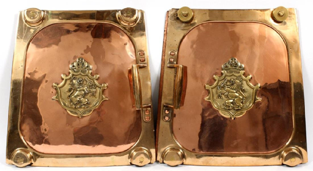 THREE STROH'S COPPER AND BRASS FLAMKESSEL PIECES