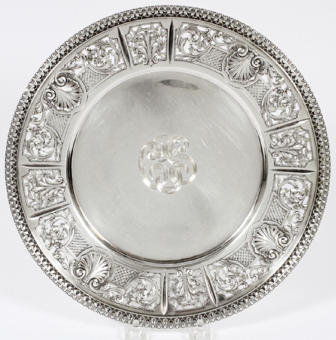 DOMINICK AND HAFF STERLING ROUND TRAY
