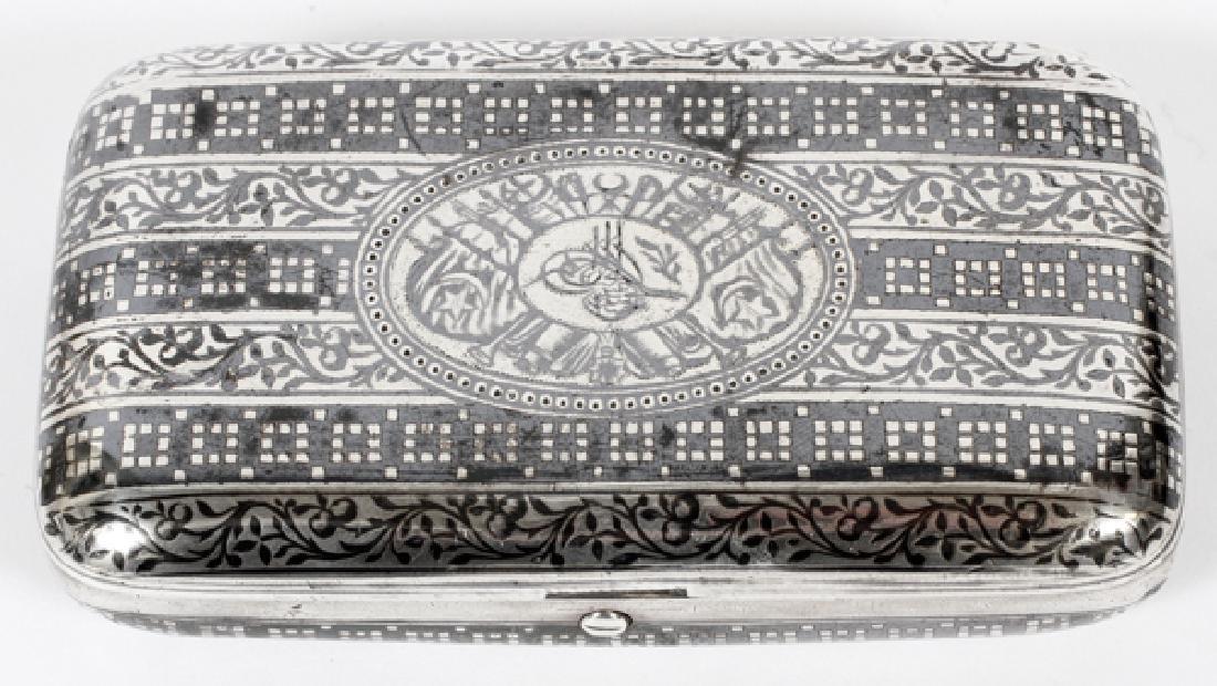 TURKISH SILVER NIELLO CIGARETTE BOX CIRCA 1900