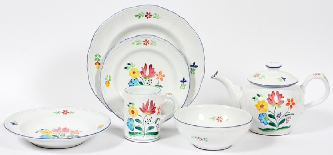 HEREND HAND PAINTED VILLAGE POTTERY DINNER SERVICE