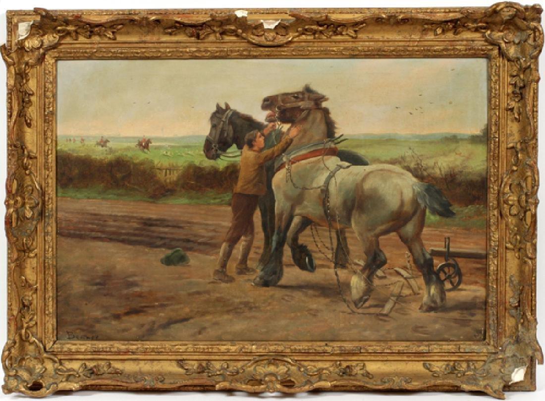 JOHANNES DANIEL BELMER OIL ON CANVAS