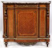 FRENCH MARBLE TOP CREDENZA 19TH.C.
