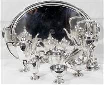091005 TIFFANY STERLING SILVER TEA  COFFEE SET