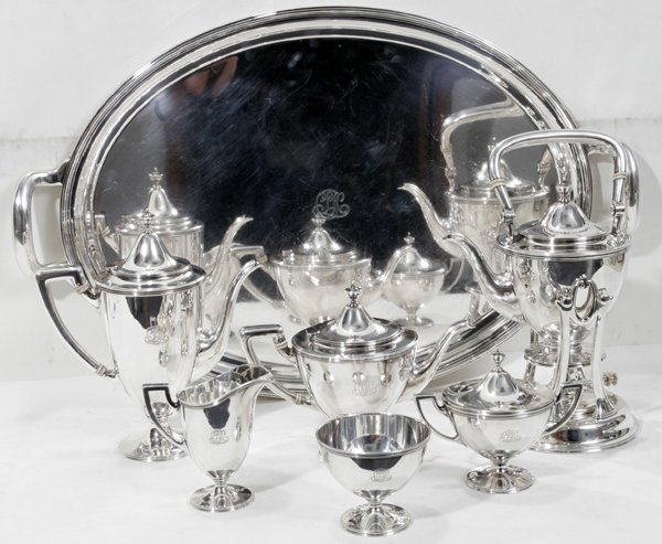 091005: TIFFANY STERLING SILVER TEA & COFFEE SET