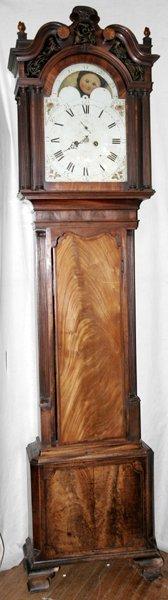 090004: JOHN WOOD ENGLISH MAHOGANY TALL CASE CLOCK