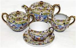 090122: JAPANESE ENAMELED PORCELAIN TEA WARE