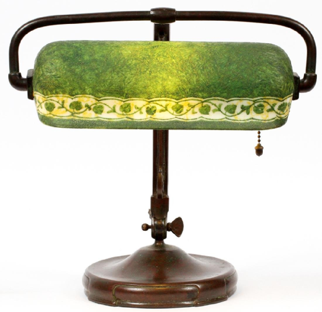 HANDEL DESK OR PIANO LAMP EARLY 20TH C.