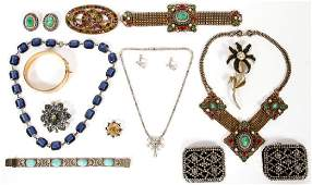 COSTUME JEWELRY COLLECTION FOURTEEN PIECES