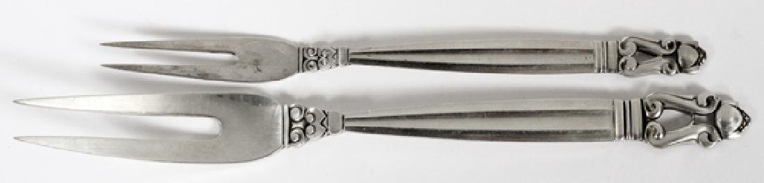 GEORG JENSEN STERLING HORS D'OEUVRES & MEAT FORKS