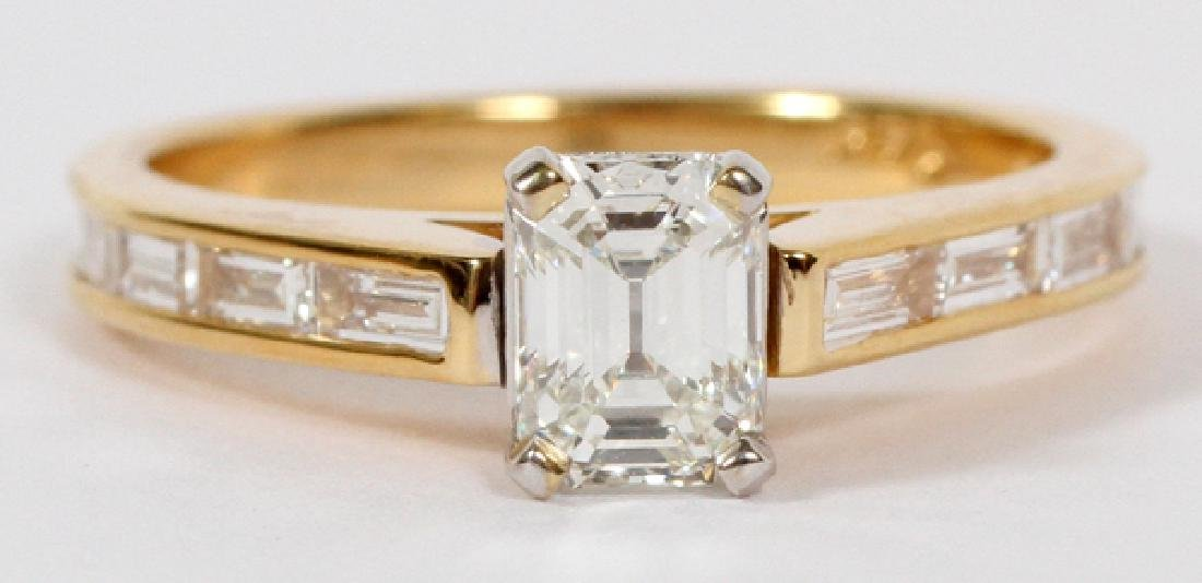 .62CT EMERALD CUT DIAMOND AND 14KT YELLOW GOLD RING