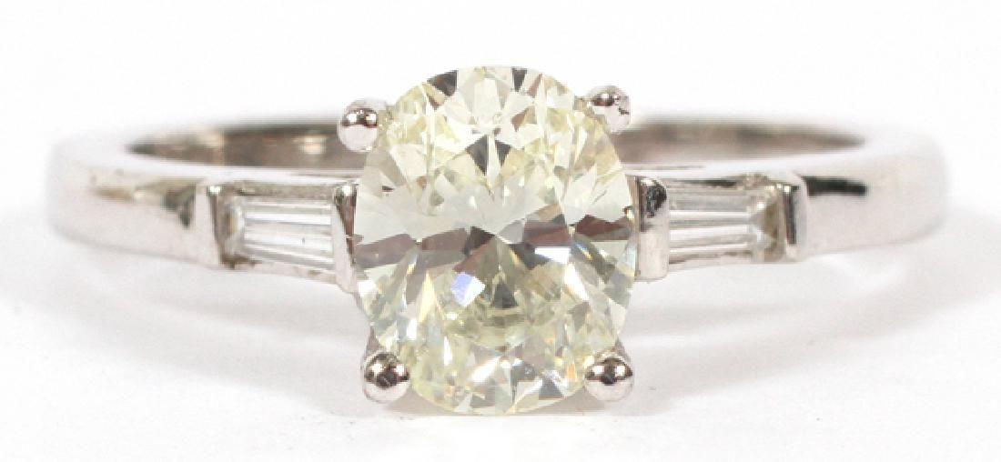 1CT OVAL CUT DIAMOND RING