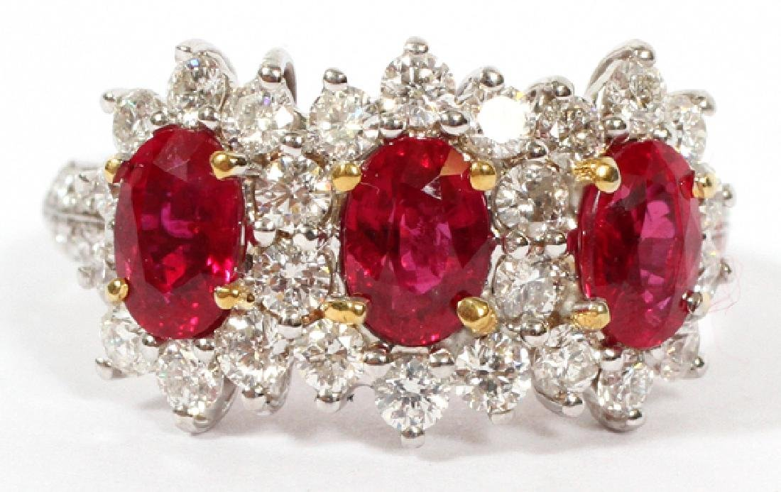 2.30CT RUBY AND 1.02CT DIAMOND RING