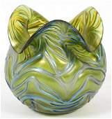 LOETZ STYLE IRIDESCENT ART GLASS VASE