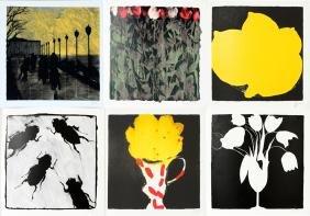 Donald Keith Sultan Serigraph Portfolio 1998 6 Prints