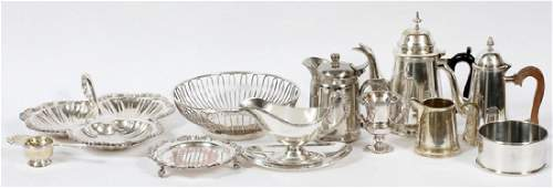 SILVER PLATE TABLEWARE 11 PIECES