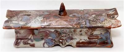 JOHN GLICK ART POTTERY COVERED BOX