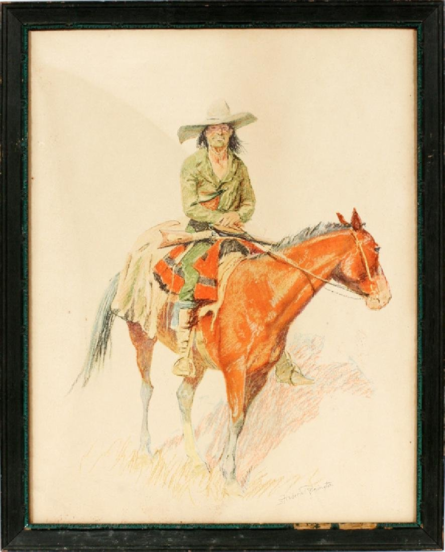 FREDERIC REMINGTON LITHOGRAPH ON PAPER