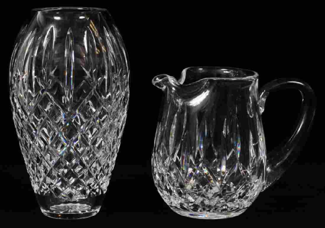 WATERFORD CRYSTAL 'COLLEEN' VASE AND PITCHER