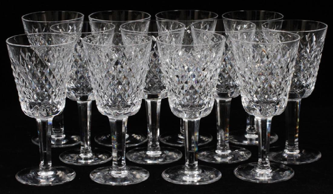 WATERFORD 'ALANA' CRYSTAL WHITE WINES SET OF 12