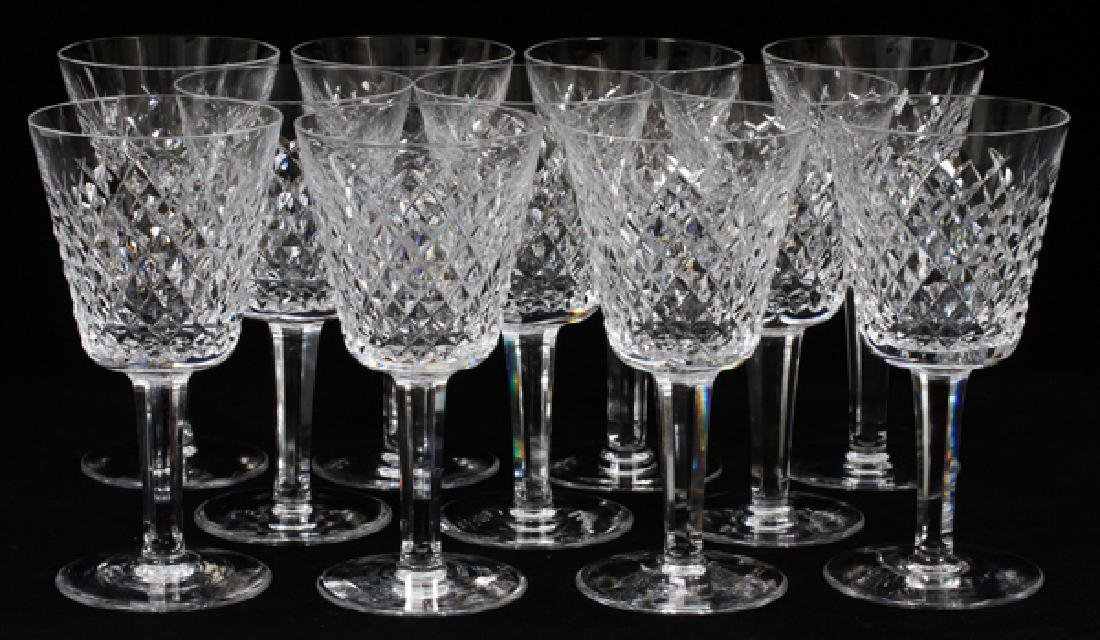 WATERFORD 'ALANA' CRYSTAL CLARET WINES SET OF 11