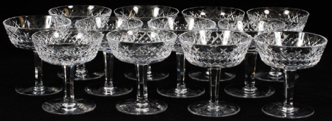 WATERFORD 'ALANA' CRYSTAL CHAMPAGNE/TALL SHERBETS