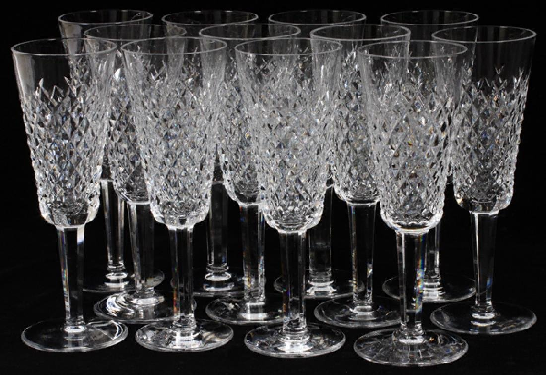WATERFORD 'ALANA' CRYSTAL CHAMPAGNE FLUTES