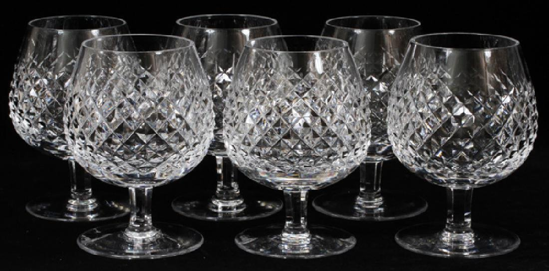 WATERFORD 'ALANA' CRYSTAL BRANDY SNIFTERS SET OF 6