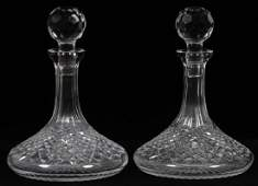 WATERFORD ALANA CRYSTAL SHIPS DECANTERS PAIR
