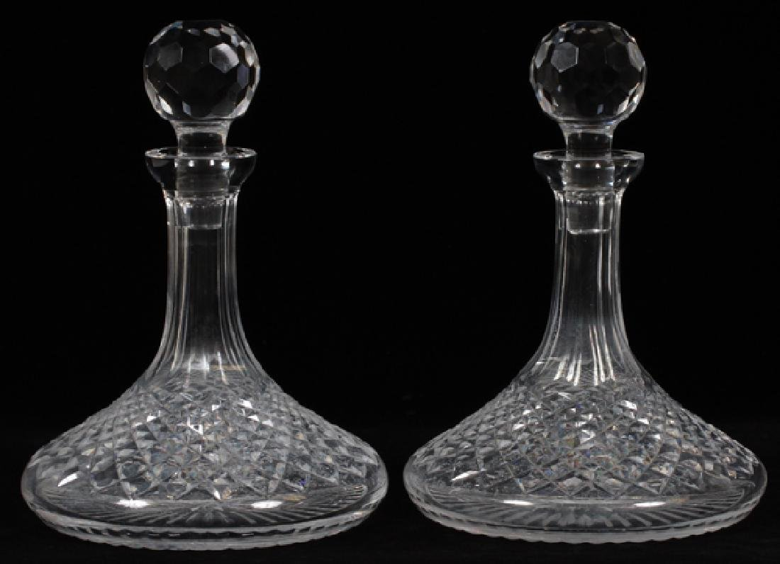WATERFORD 'ALANA' CRYSTAL SHIP'S DECANTERS PAIR