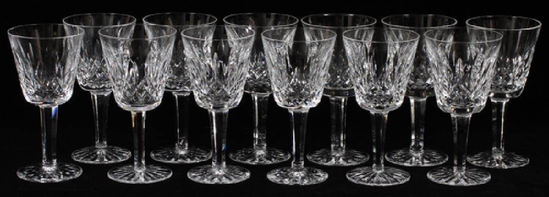 WATERFORD 'LISMORE' CRYSTAL CLARET WINES SET OF 12