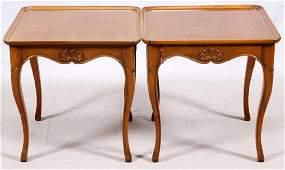 BODART WALNUT SIDE TABLES 20TH C. PAIR