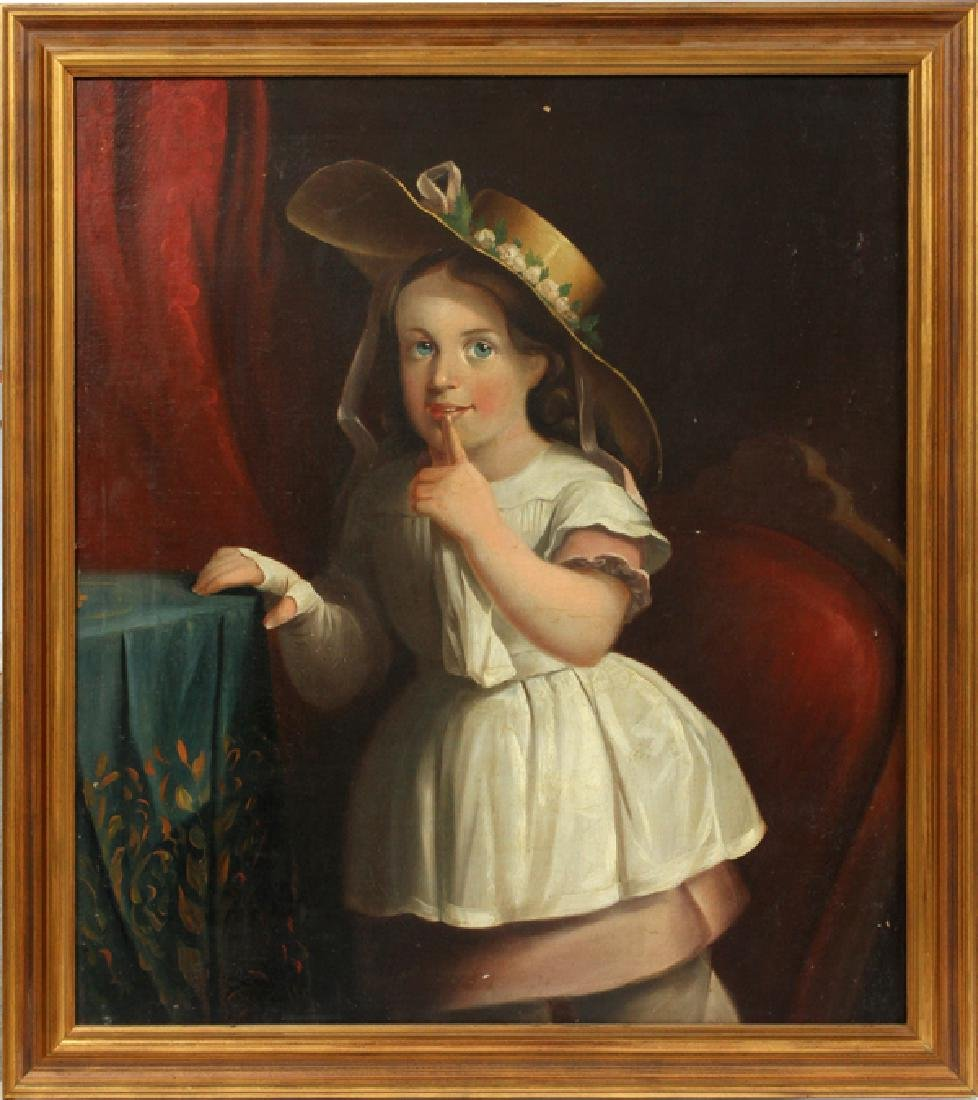 ATTRIBUTED TO JOSEPH WHITING STOCK OIL ON CANVAS