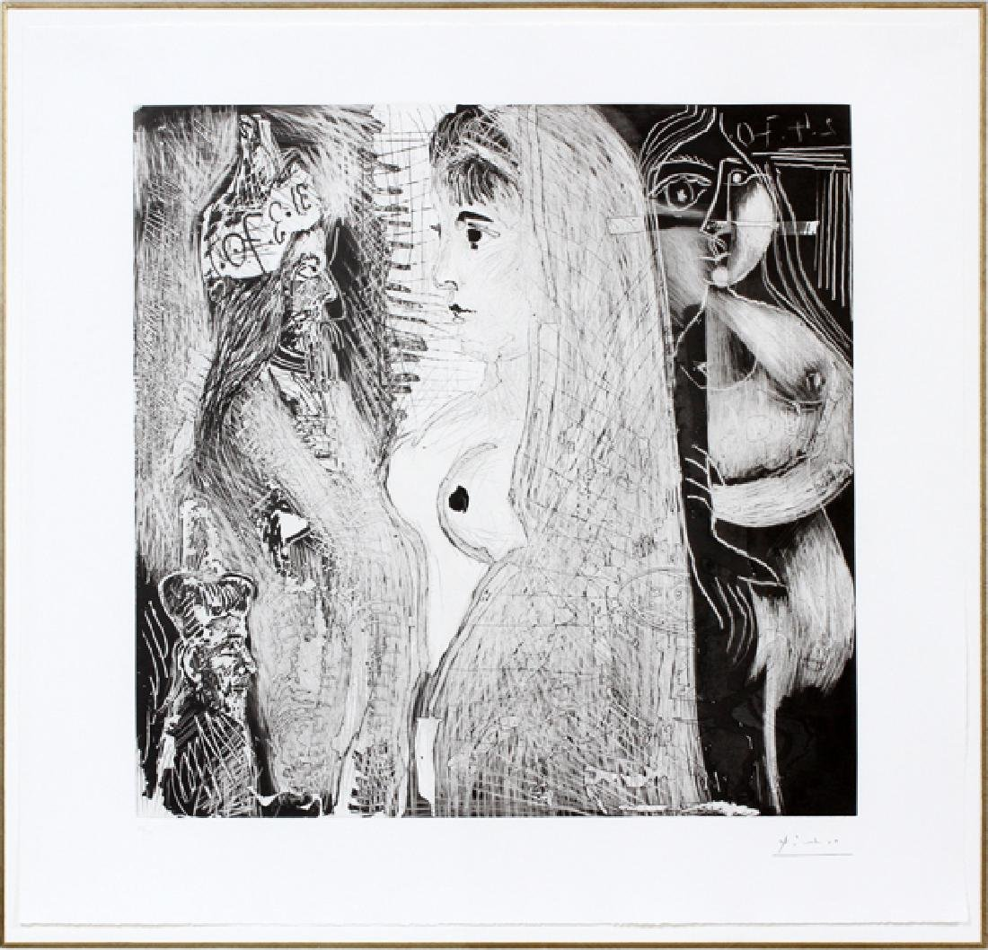 PABLO PICASSO AQUATINT ETCHING/DRY POINT