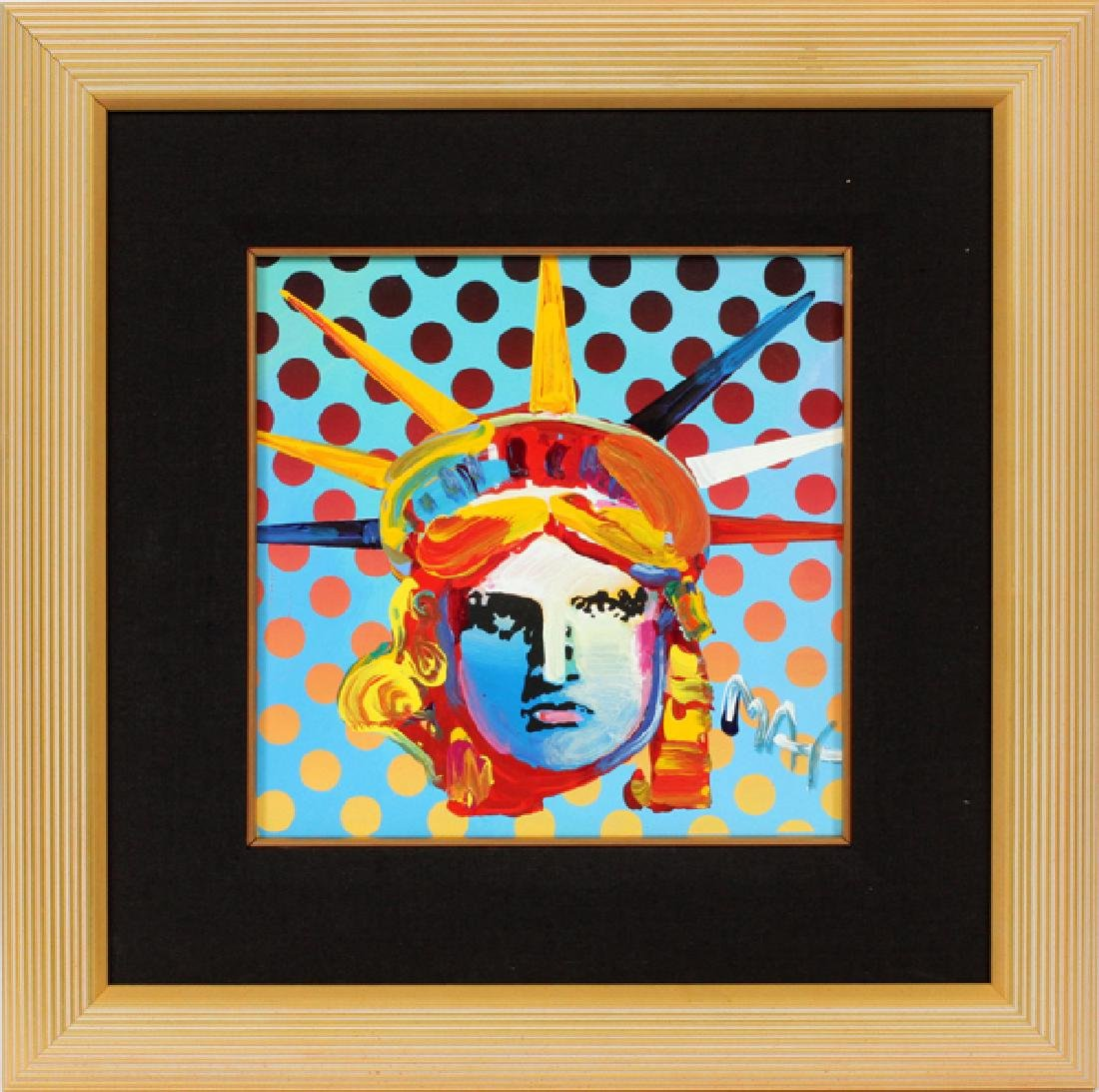 PETER MAX ACRYLIC ON CANVAS C. 1998