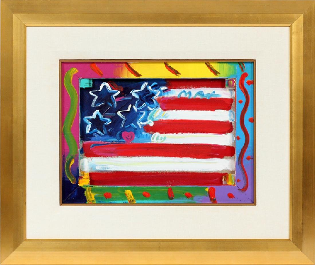 PETER MAX ACRYLIC ON CANVAS 1995