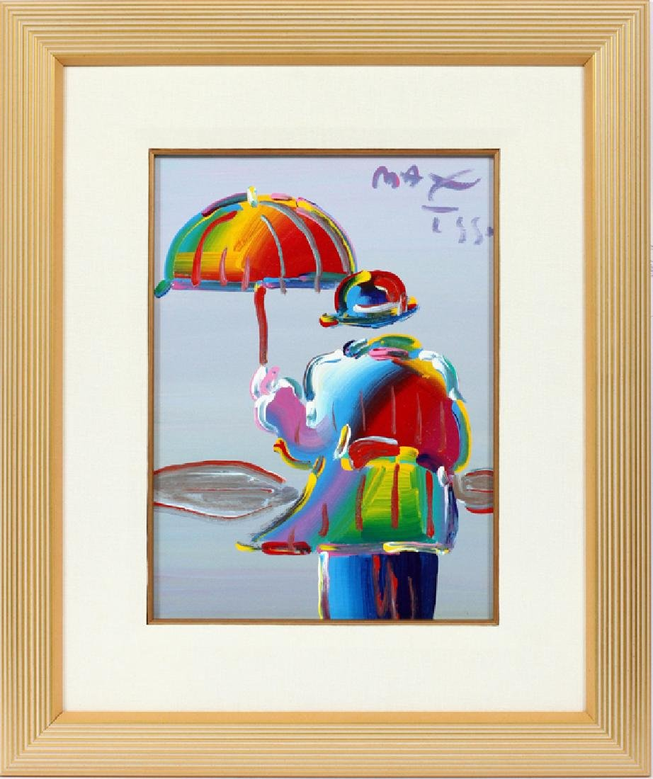 PETER MAX ACRYLIC ON CANVAS 1990