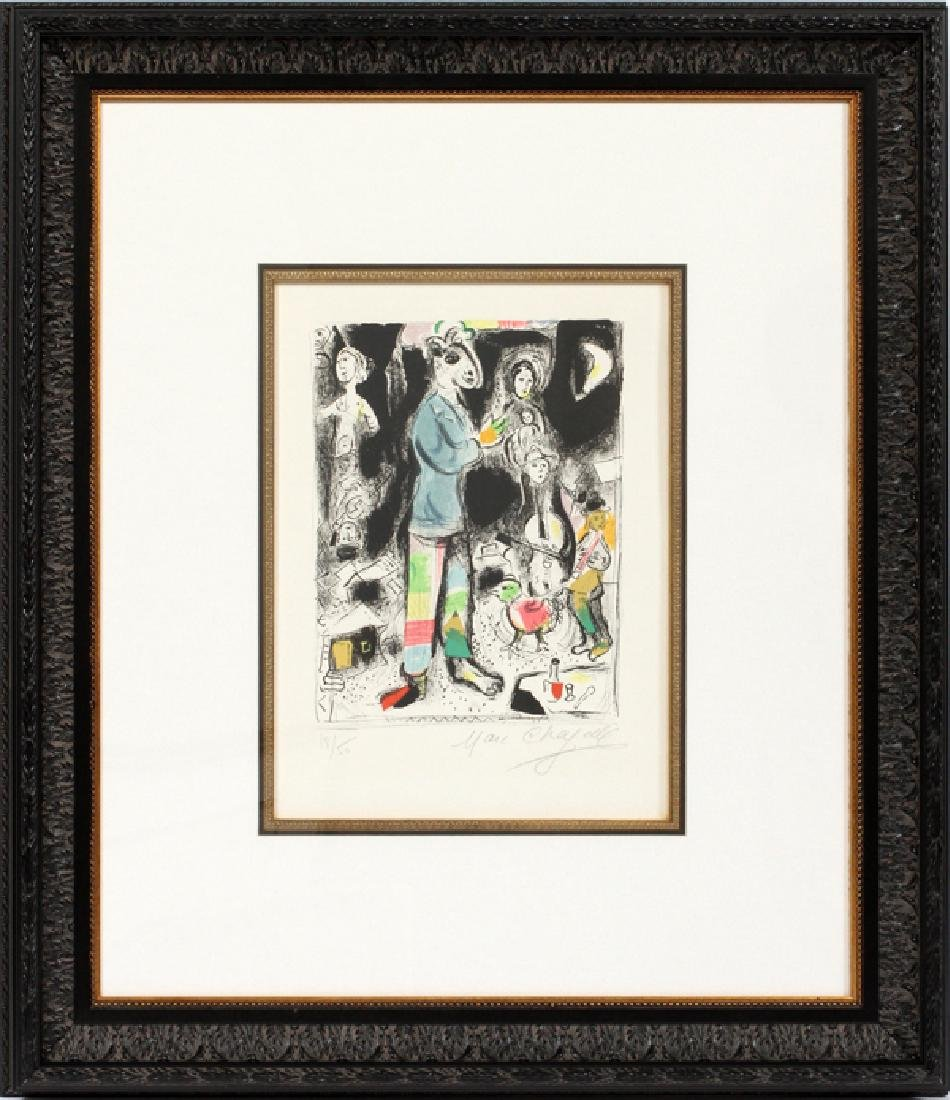 MARC CHAGALL COLOR LITHOGRAPH 1968