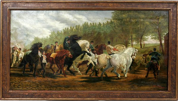 100011: F. J. EHRLINGHER AFTER BONHEUR, OIL ON CANVAS
