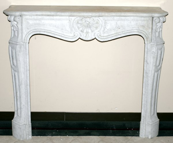 """100016: MARBLE FIREPLACE MANTEL H42.5"""" W51"""" D15"""""""