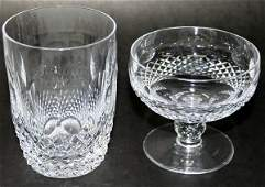 100077: WATERFORD COLLEEN CRYSTAL SHERBETS & TUMBLERS