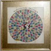 101492 ENGLISH VICTORIAN LITHOGRAPHED GAME BOARD
