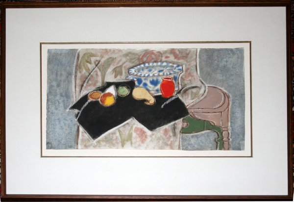 102022: CHARLES CULVER WATERCOLOR ON PAPER, STILL LIFE