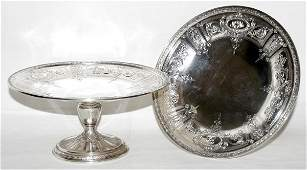 102363: GORHAM STERLING SILVER FOOTED COMPOTES